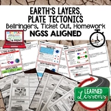 Earth's Layers & Plate Tectonics Warm Ups & Bell Ringers,