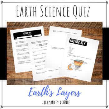 Earth's Layers Quiz: 6th Grade Earth Science {Texas TEKS}