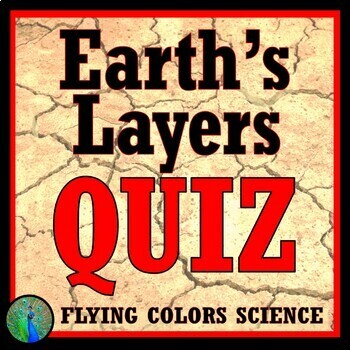 FREE Earth's Layers Quiz (middle school) NGSS