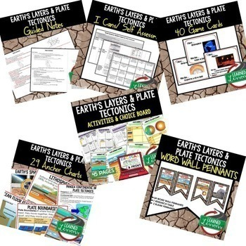 Earth's Layers and Plate Tectonics Earth Science Bundle (Earth Science BUNDLE)