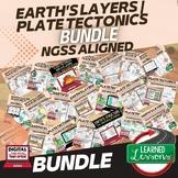 Earth's Layers and Plate Tectonics Earth Science Bundle (E
