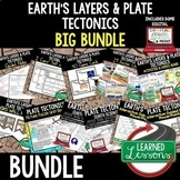 Earth's Layers and Plate Tectonics Earth Science Bundle (E