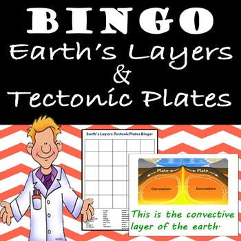 Earth's Layers and Tectonic Plates REVIEW BINGO