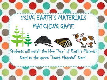Earth's Materials Matching Game