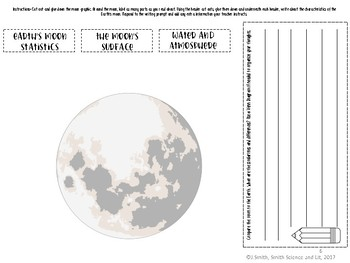 Earth's Moon Reading Comprehension Interactive Notebook