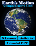 Earth's Motion Comprehensive Unit (5 Lessons, Power point,
