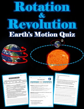 Earth's Motion Quiz and Review Sheet (Rotation and Revolution)