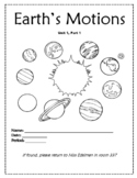 Earth's Motion; Rotation and Revolution Notes Bundle