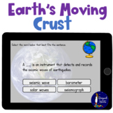 Earth's Moving Crust Vocabulary BOOM Cards