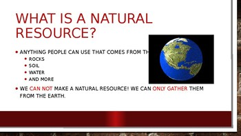 Earth's Natural Resource