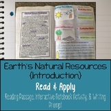 Earth's Natural Resources Reading Comprehension Interactive Notebook