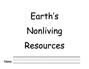 Earth's Nonliving Resource book