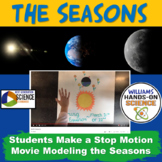 NGSS MS-ESS1-1 Seasons Stop Motion Movie Developing and Using Models