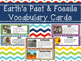 Earth's Past and Fossils Vocabulary Cards 4.E.2