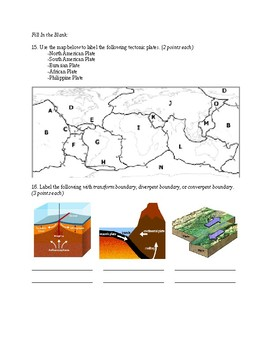 Earth's Physical Surface and Geological Features Test