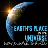 Earth's Place in the Universe Homework Bundle