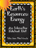Earth's Resources- Energy Interactive Notebook