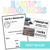 Earth's Resources: Rocks, Soil and Water Interactive Flip Book and Vocabulary