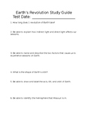 Earth's Revolution Study Guide