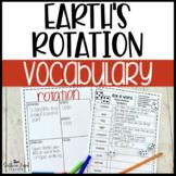 Earth's Rotation Fun Interactive Vocabulary Dice Activity EDITABLE