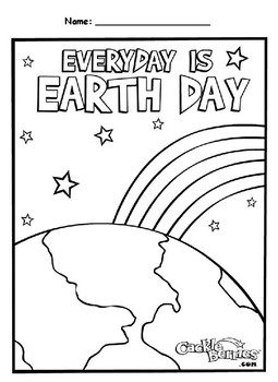Earth's Rotation Causes Day and Night - Earth Day Coloring Page