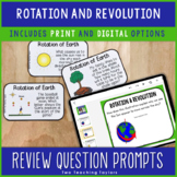Earth's Rotation and Revolution   Question Prompts Activit