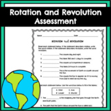 Earth's Rotation and Revolution Assessment TN 4.ESS1.2