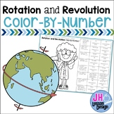 Earth's Rotation and Revolution Color-By-Number