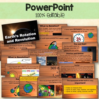 Earth's Rotation and Revolution Pack Printables, Interactive Notebook,PowerPoint