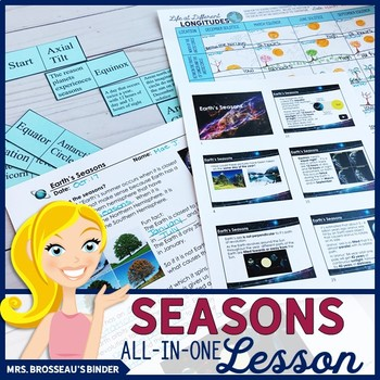 Earth's Seasons ALL-IN-ONE Lesson | Astronomy Seasons Lesson