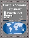 Earth's Seasons Crossword Puzzle Set