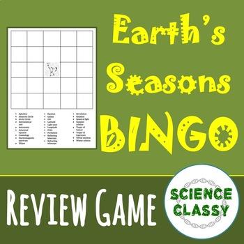 Earth's Seasons Review Bingo