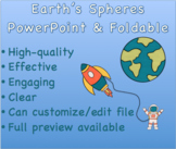 Earth's Sphere's PowerPoint & Foldable Activity