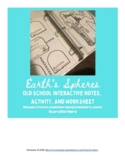 Earth's Spheres Old School Interactive Notebook Notes and