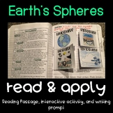 Earth's Spheres Read and Apply