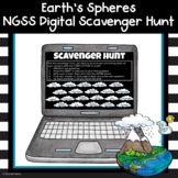 Earth's Spheres Science Review Digital Scavenger Hunt Activity