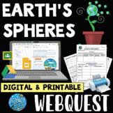 Earth's Spheres WebQuest - Printable & Digital
