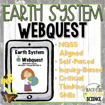 Earth's Spheres Webquest  (Geosphere, biosphere, hydrosphere, atmosphere) NGSS