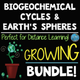 Earth's Spheres and Biogeochemical Cycles Growing Bundle! - Distance Learning