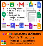 Earth's Structure Google Doc Article & Questions Distance Learning Friendly