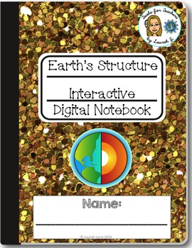 Earth's Structure Interactive Digital Notebook for Google Drive®