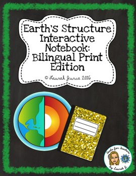 Earth's Structure Interactive Notebook: Bilingual Print Edition