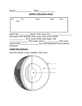 Earth's Structure Quiz