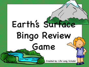 Earth's Surface Bingo Review Game