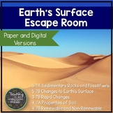 Earth's Surface Paper and Digital Science Escape Room | Di
