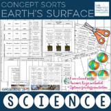 Earth's Surface: Science Concept Sorts