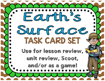 Earth's Surface Task Cards