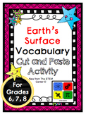 Earth's Surface Vocabulary Activity