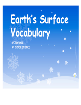 Earth's Surface WORD WALL