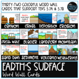 Earth's Surface Word Wall Cards - TEKS 5.7A, 5.7B